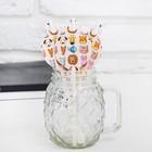 Трубочки для коктейля «Животные», набор 10 шт. - фото 105519400