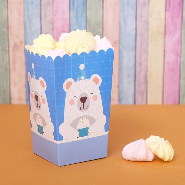 Снек-бокс «Мишка с кексом», набор 6 шт.