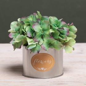 Металлическое кашпо для цветов Flowers, 10 × 7.5 см