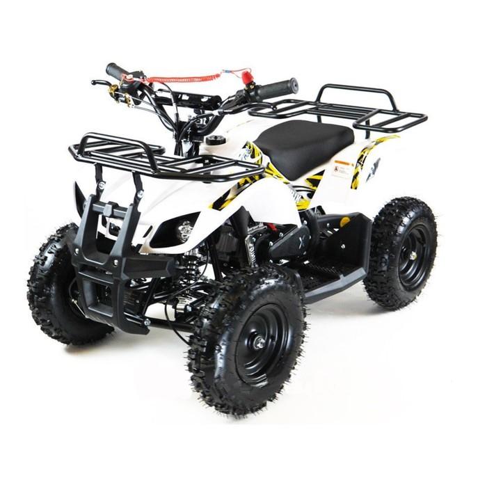 Квадроцикл детский бензиновый MOTAX ATV Х-16 с электростартером и родительским пультом,белый   44934