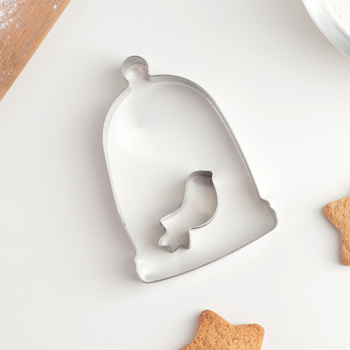 """Набор форм для вырезания печенья 5,5×6×2 см """"Птичка"""", 2 шт - фото 308033955"""