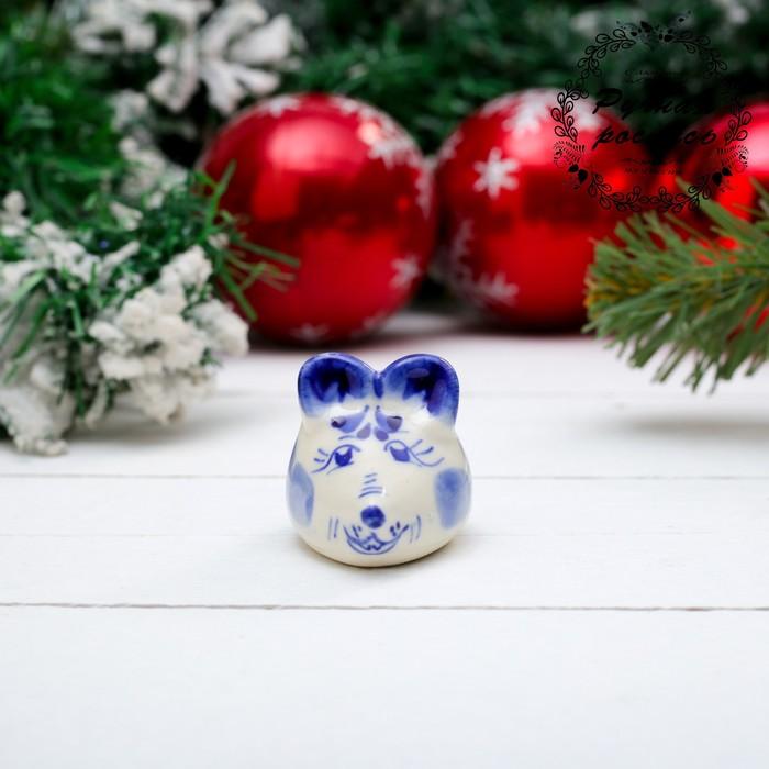 Сувенир «Крошка Мышь», 5,5 см, гжель