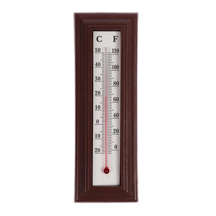 Термометр спиртовой LuazON, комнатный, пластик, коричневый