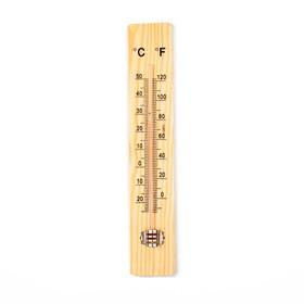 Термометр, уличный, спиртовой, дерево