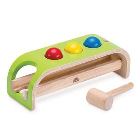 Деревянная игрушка-стучалка с шарами «Покатились»