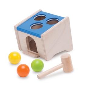 Деревянная игрушка-стучалка с шарами «Куб»