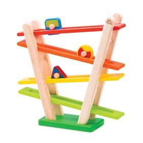 Деревянная игрушка «Радуга», с катящимися роликами