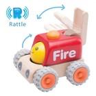 Деревянная игрушка Miniworld «Пожарная машина с улыбкой»