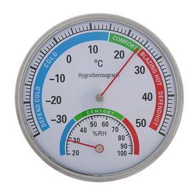 Термометр уличный, механический, гигрометр, круглый, металл