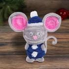 """Набор для создания игрушки из меховых палочек """"Веселый мышонок"""" + глаза, пенопластовые шары   427595"""