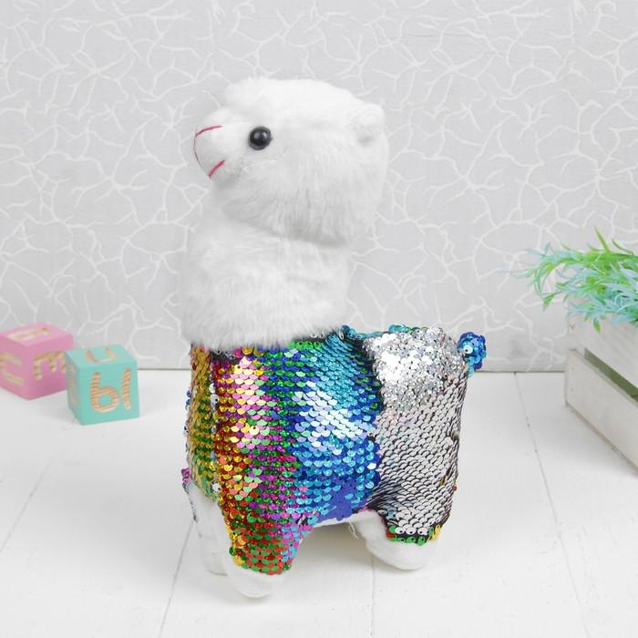 Мягкая игрушка «Лама», пайетки - фото 4470034
