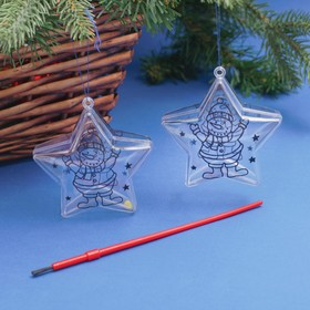 "A set of Christmas ornaments coloring under the ""Star"" 2-piece size harvested 8 cm, MIX"