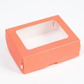Контейнер на вынос, розовый, 10 х 8 х 3,5 см в Донецке