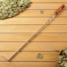 Кочерга узбекская с деревянной ручкой, с узором, 50/1,6см, сталь 3мм Ош