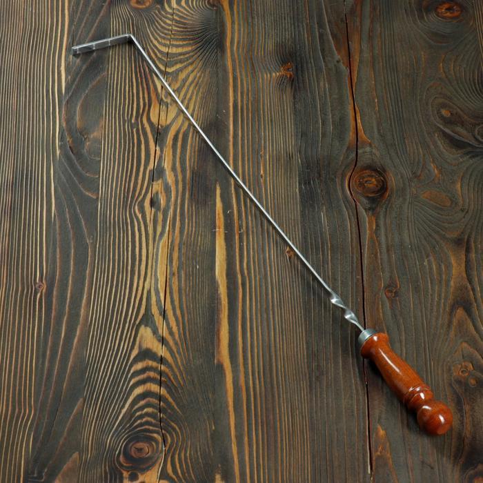 Кочерга металлическая с деревянной ручкой, с узором, 50×10×3 см