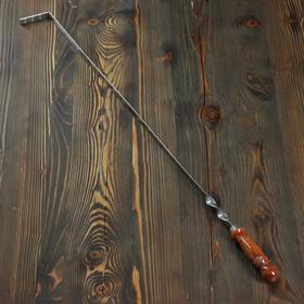 Кочерга узбекская с деревянной ручкой, с узором, 70*1,6см, сталь 3мм Ош