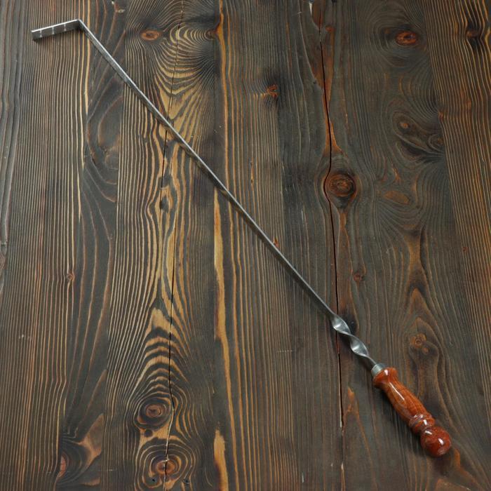 Кочерга металлическая с деревянной ручкой, с узором, 70×16×3 см