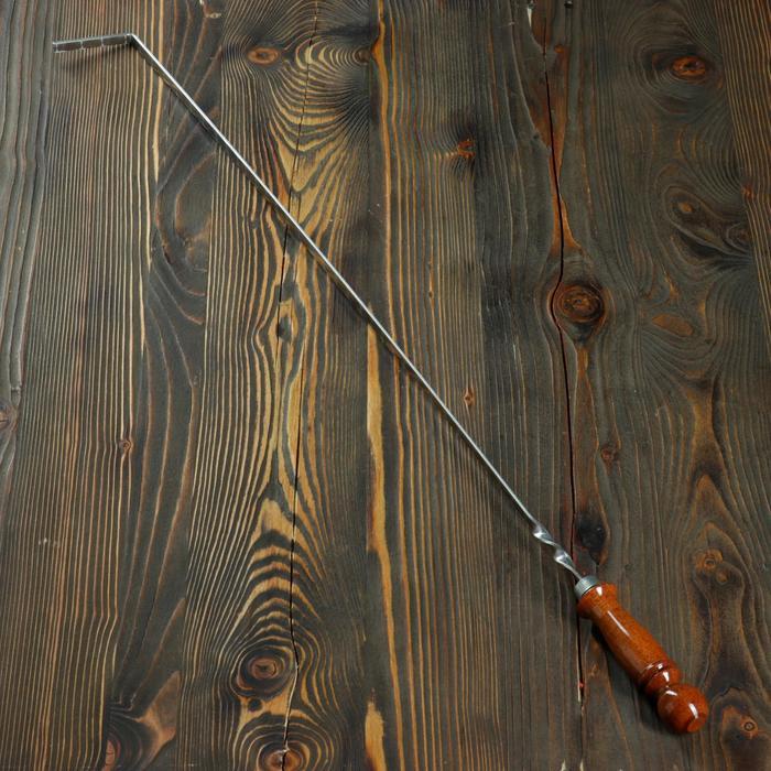 Кочерга металлическая с деревянной ручкой, с узором, 70×10×3 см