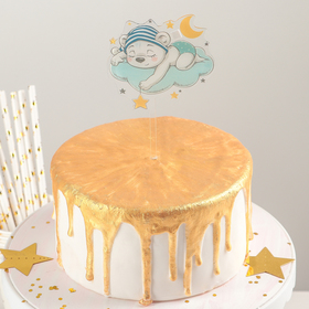 "The cake topper is 13×8 cm ""sleeping bear"""