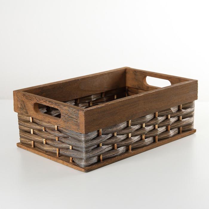 "The storage basket is ""Tree"" 30х19х11,5 cm, color brown"