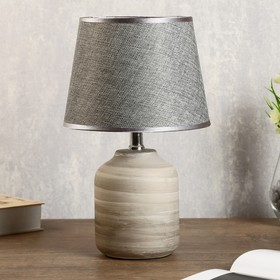 """Лампа настольная """"Кредо"""" 1х40Вт E14 серый 20х20х34 см."""