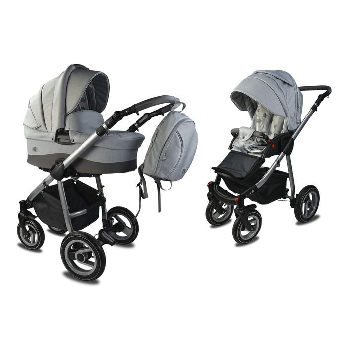 Коляска детская «Счастье» комбинированная 2 в 1, цвет серый, повортные колеса