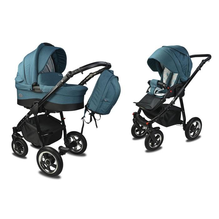 Коляска детская «Счастье» комбинированная 2 в 1, цвет мурена, повортные колеса