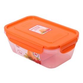 Пластиковый герметичный контейнер, объём 1 л