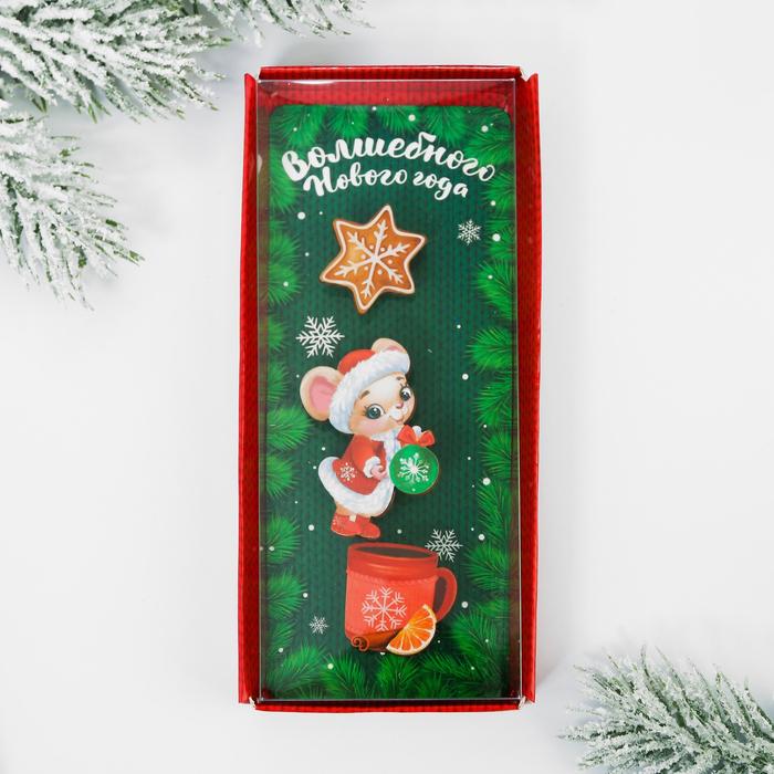 Набор значков «Волшебного Нового года», в коробке, 3 шт.