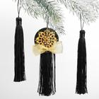Набор подвесок-кисточек «Золотая снежинка»