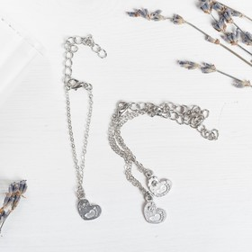 "A set of bracelets for children ""Heart"" 3 piece, silver"