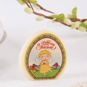 Пасхальная свеча-яйцо с картинкой «Ангел»