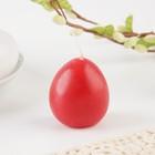 Пасхальная свеча-яйцо с картинкой «С праздником Пасхи!»