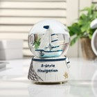 "Souvenir Polyresin water globe light music ""Sailing"" 12,5х8х8 cm"
