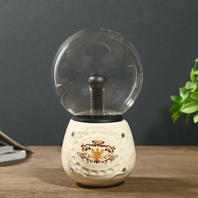 """Плазменный шар """"Декор узор"""" 12х12х21 см."""