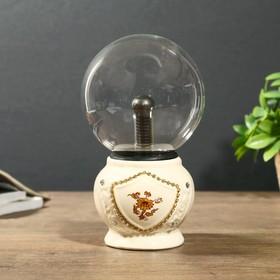 """Плазменный шар """"Декор цветок"""" 12х12х21 см."""
