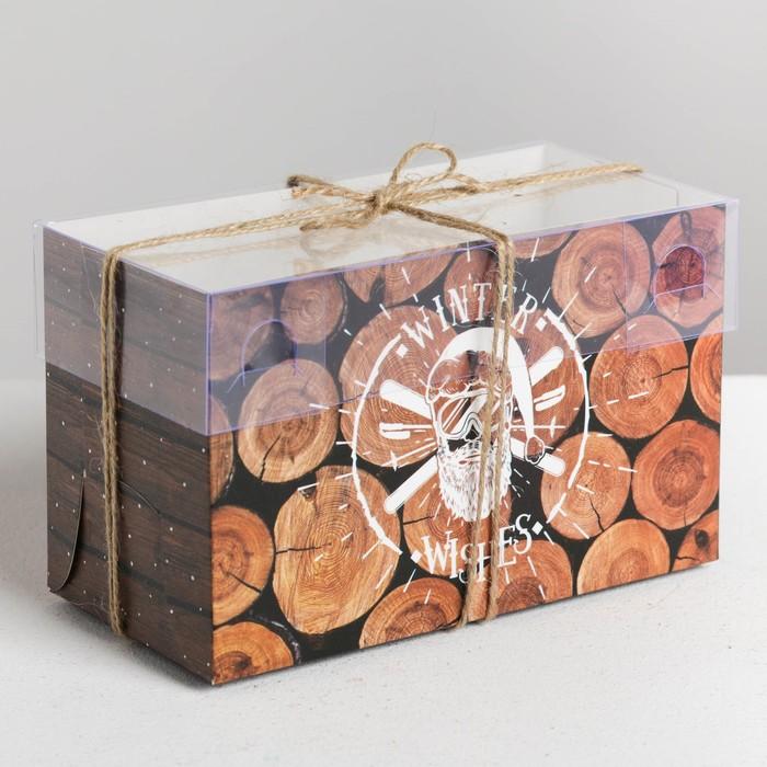 Коробка для капкейка Winter wishes, 16 × 8 × 10 см