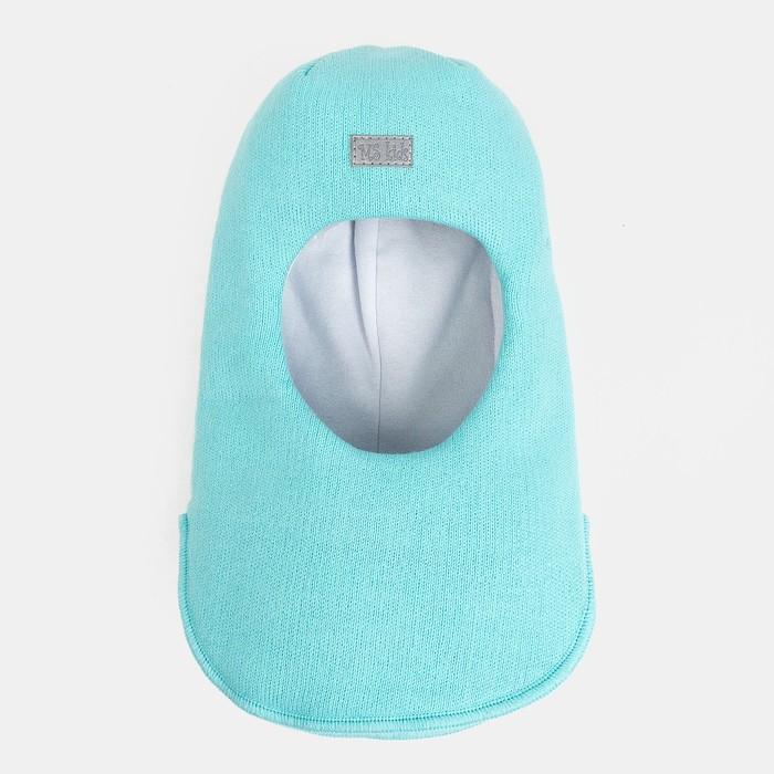 Шлем-капор зимний для девочки, цвет мята, размер 50-52 - фото 105566507