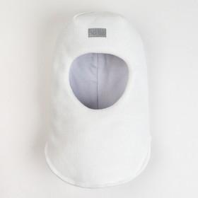 Шлем-капор зимний для девочки, цвет белый, размер 52-54