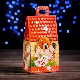"A cardboard box ""Three bears"", 9.1 x 7 x 15.7 cm"
