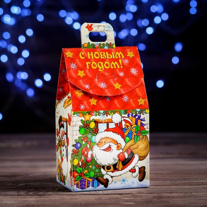 """Коробка картонная """"Веселый Дед Мороз"""", 9,1 х 7 х 15,7 см - фото 308276109"""
