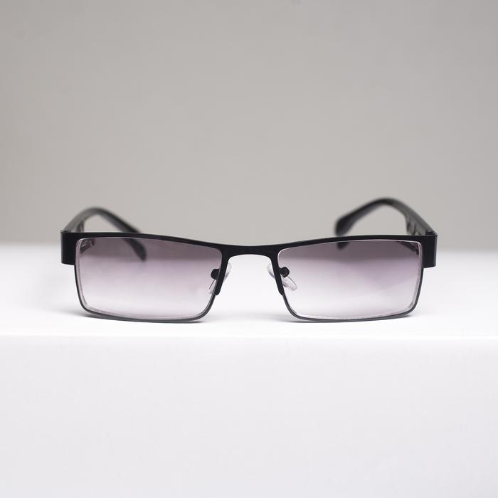 Очки корригирующие 336, цвет чёрный, тонированные, отгибающаяся дужка, +1
