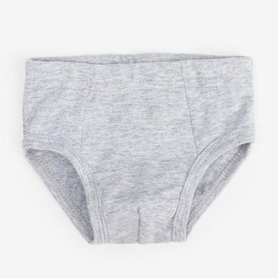 Трусы-плавки для мальчика, серый меланж, размер 30
