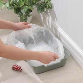 Пакеты для кошачьих лотков 50×25×30 см, ПНД, 10 шт