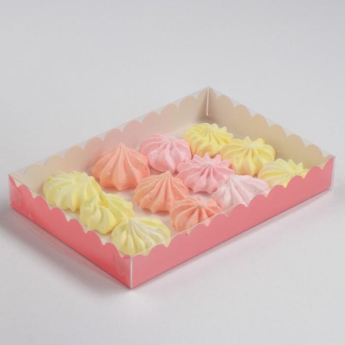 Коробочка для печенья, коралловый, 22 х 15 х 3 см - фото 308035754