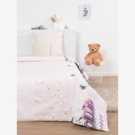 Постельное бельё 1,5сп Эталоника «Мишутка» цвет розовый 150х215 см,150х215 см,70х70 см 1шт