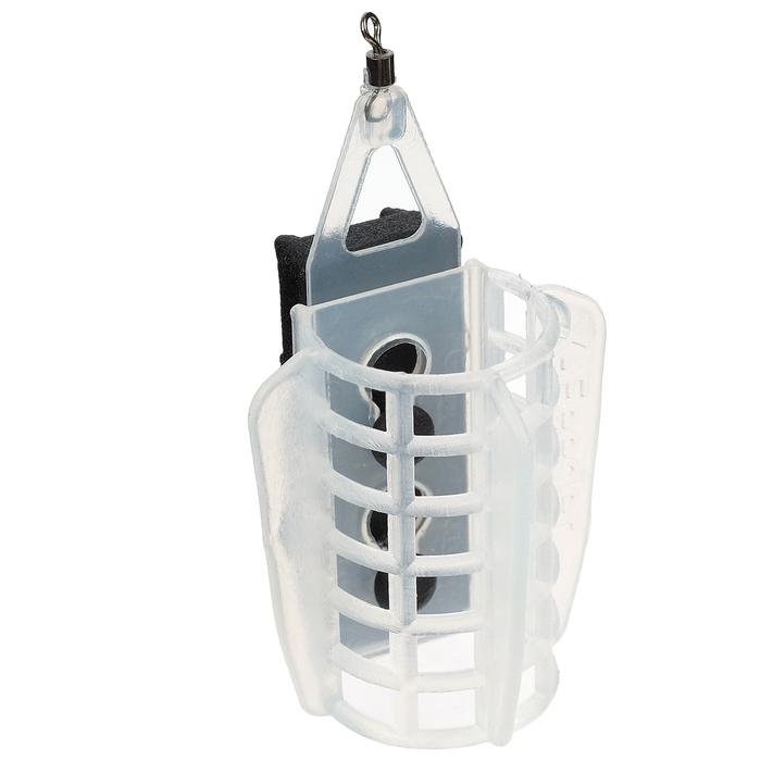 Груз-кормушка фидерная X-FEEDER PL GLASS WING SPORT 110 г, 20 мл, прозрачный