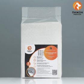Пеленки угольные пятислойные гелевые для животных, 60 х 45 см, 10 шт