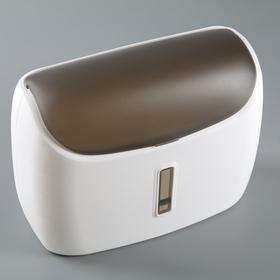 Диспенсер бумажных полотенец в листах 31×12,5×23,5 см, пластик, цвет белый/чёрный