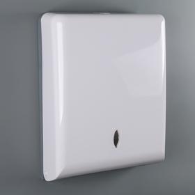 Диспенсер бумажных полотенец в листах 36,9 ×27 ×11 см, пластик цвет белый
